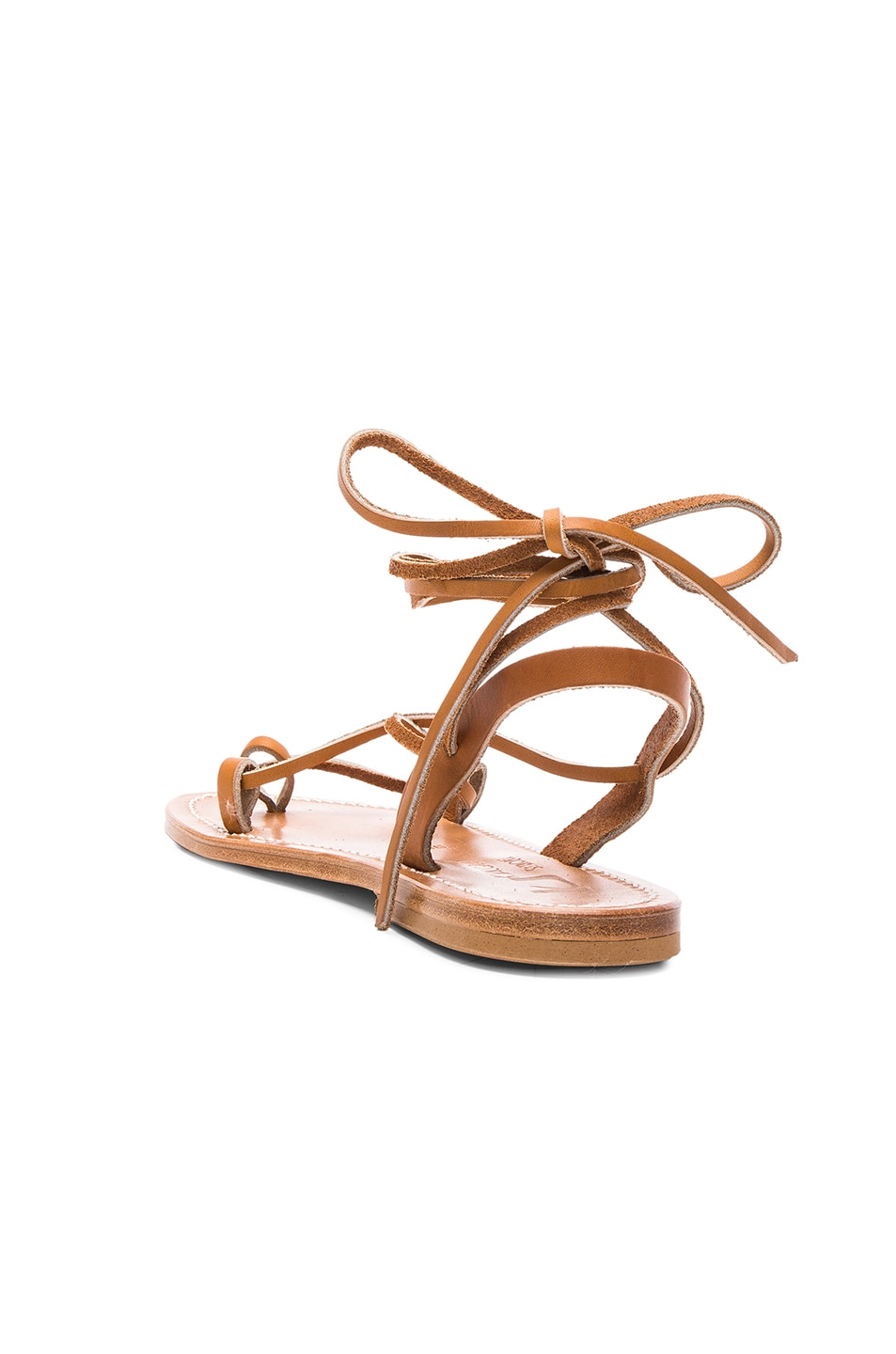 Image 3 of K Jacques Leather Lucile Sandals in Pul Natural