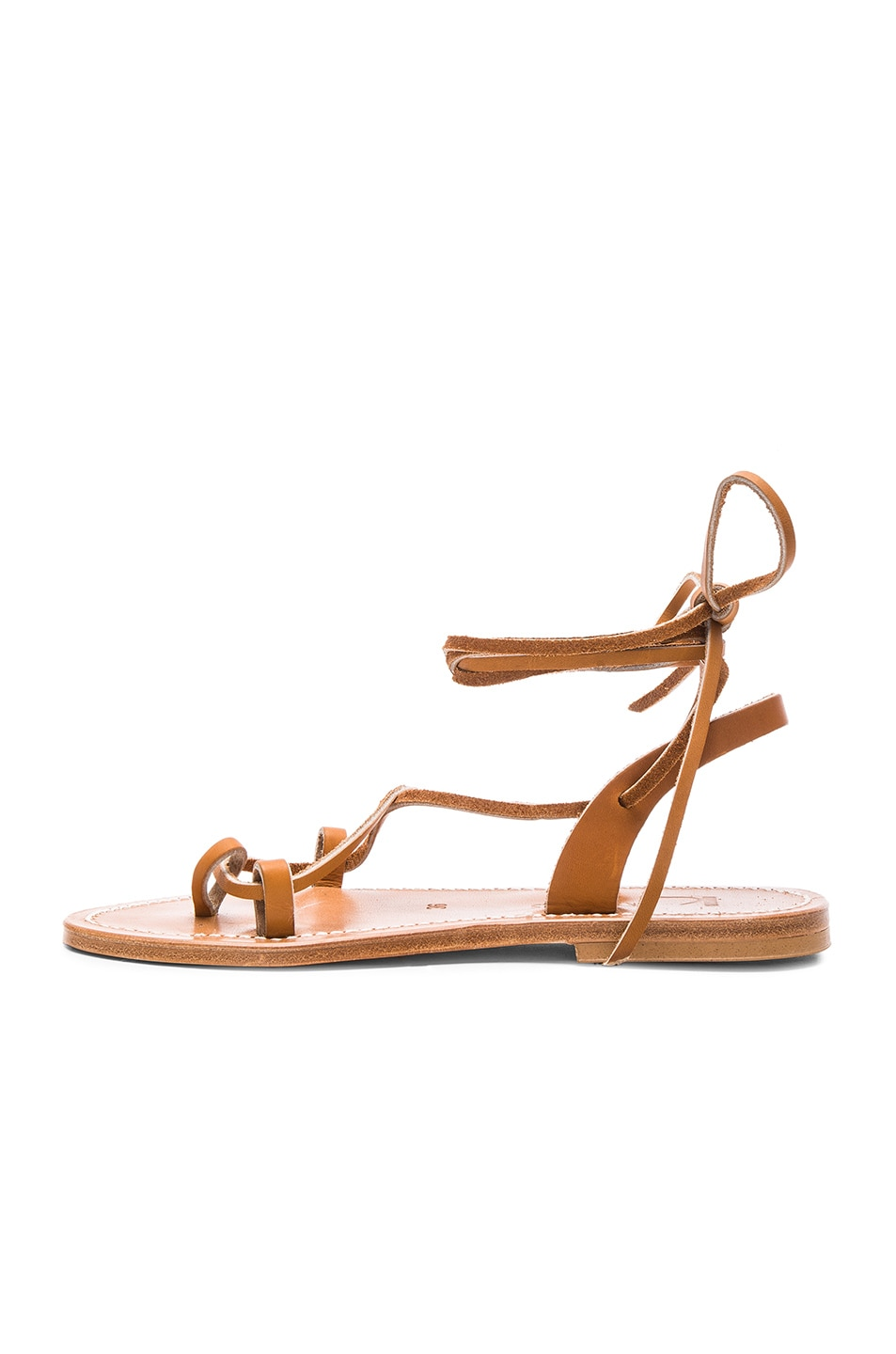 Image 5 of K Jacques Leather Lucile Sandals in Pul Natural
