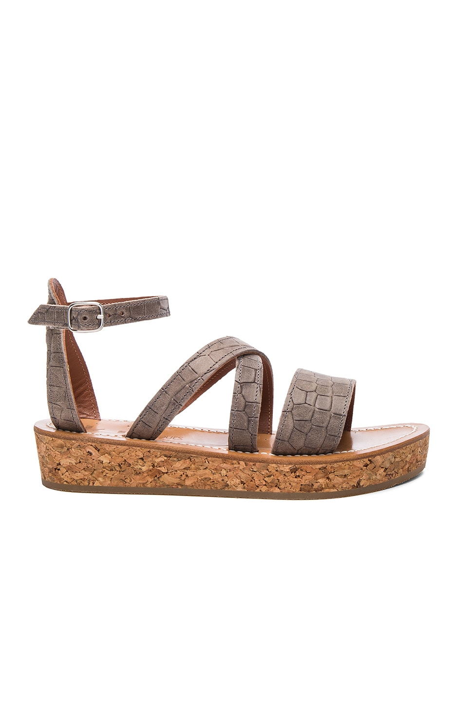 Image 1 of K Jacques Leather Thoronet Sandals in Tiles Trento