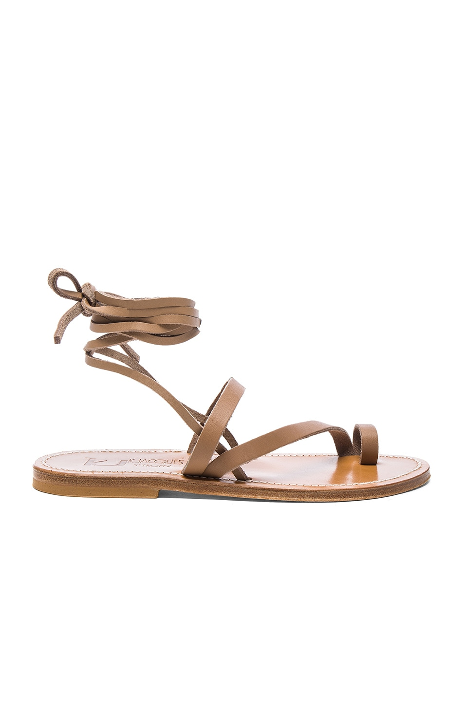 Image 1 of K Jacques Leather Ellada Sandals in Pul Taupe
