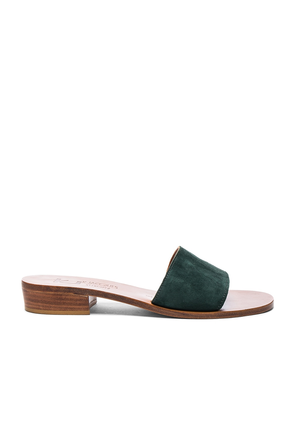 Image 1 of K Jacques Suede Sevan Sandals in Velours Grama