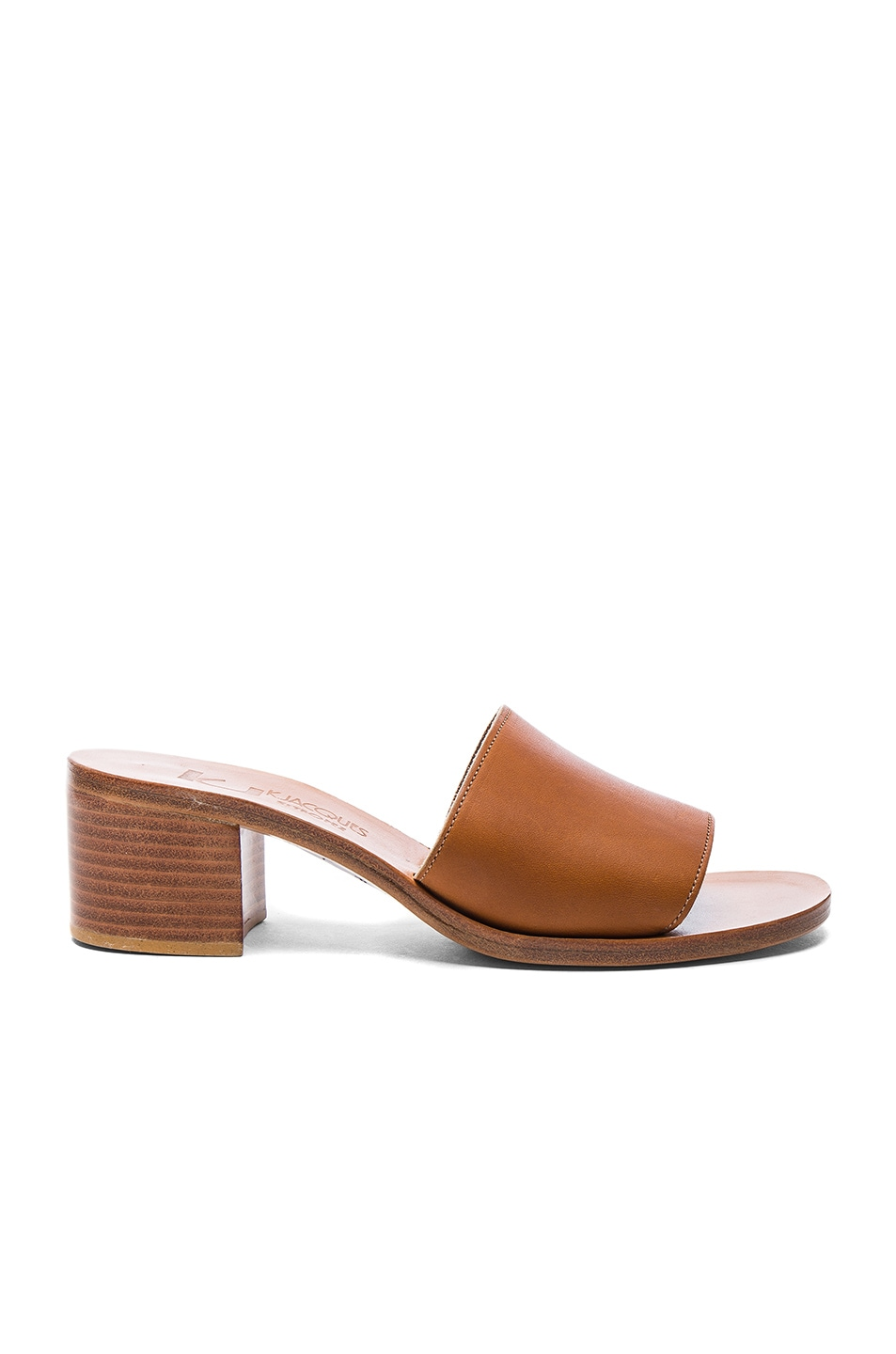 Image 1 of K Jacques Leather Caprika Sandals in Pul Natural