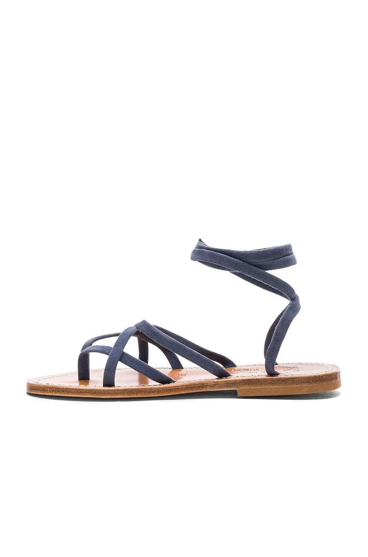 K jacques Suede Zenobie Sandals in Suede Denim Sale Pick A Best Cheap Sale Deals 1zcspO