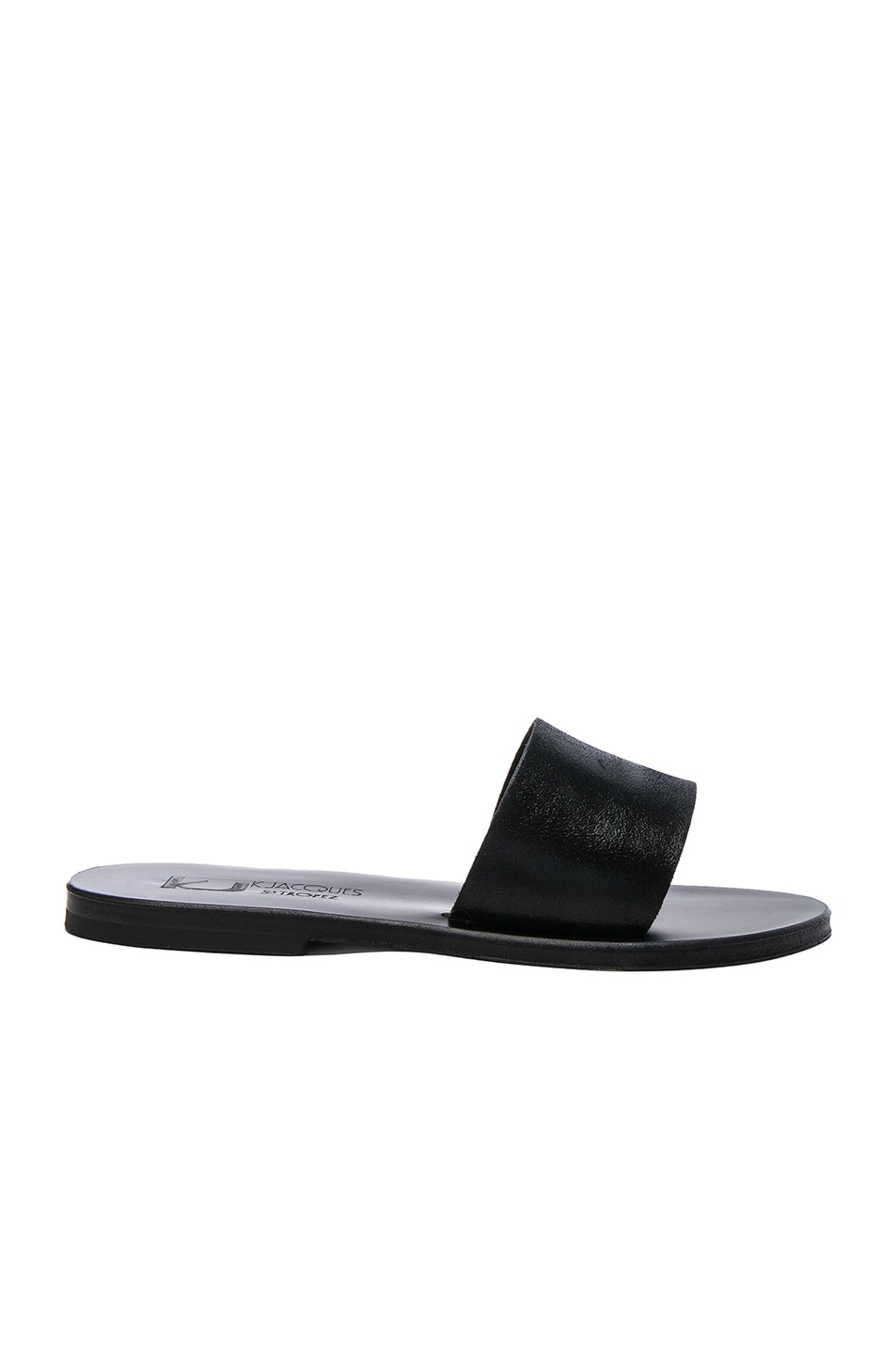 Image 1 of K Jacques Leather Arezzo Sandals in Velam Noir