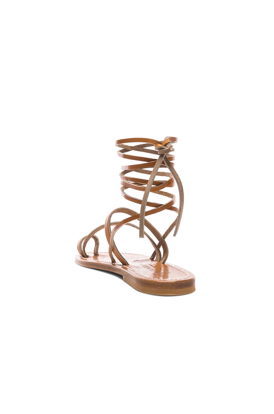 Image 3 of K Jacques Ellada Ankle Wrap Sandal in Pul Natural