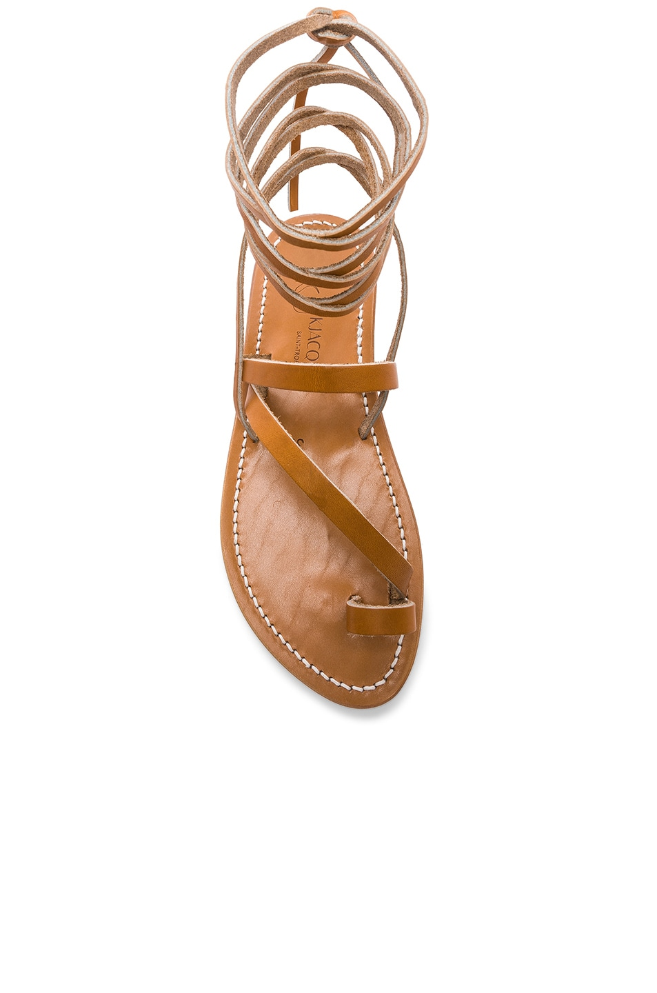 Image 4 of K Jacques Ellada Ankle Wrap Sandal in Pul Natural
