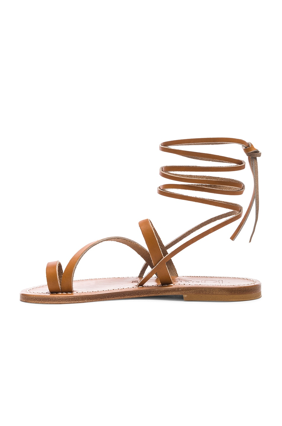 Image 5 of K Jacques Ellada Ankle Wrap Sandal in Pul Natural