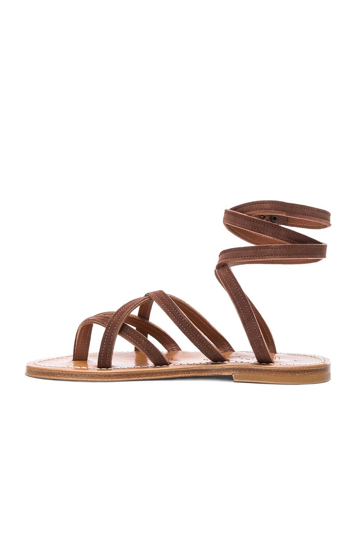 Image 5 of K Jacques Zenobie Ankle Wrap Sandal in Velours Chocolat