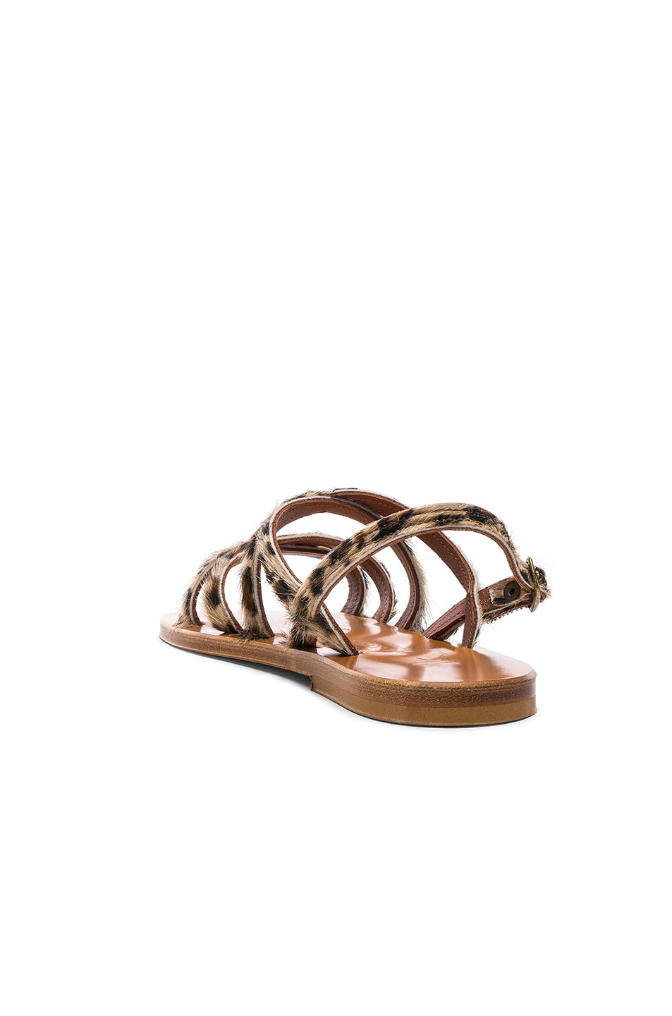 Image 3 of K Jacques Calf Hair Datura CC Sandals in Horsy Leopard