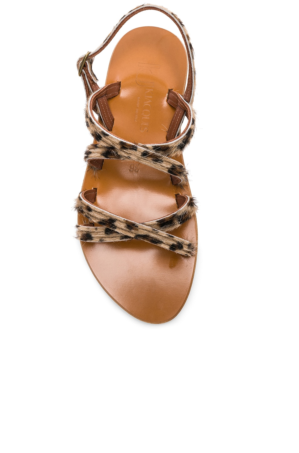 Image 4 of K Jacques Calf Hair Datura CC Sandals in Horsy Leopard