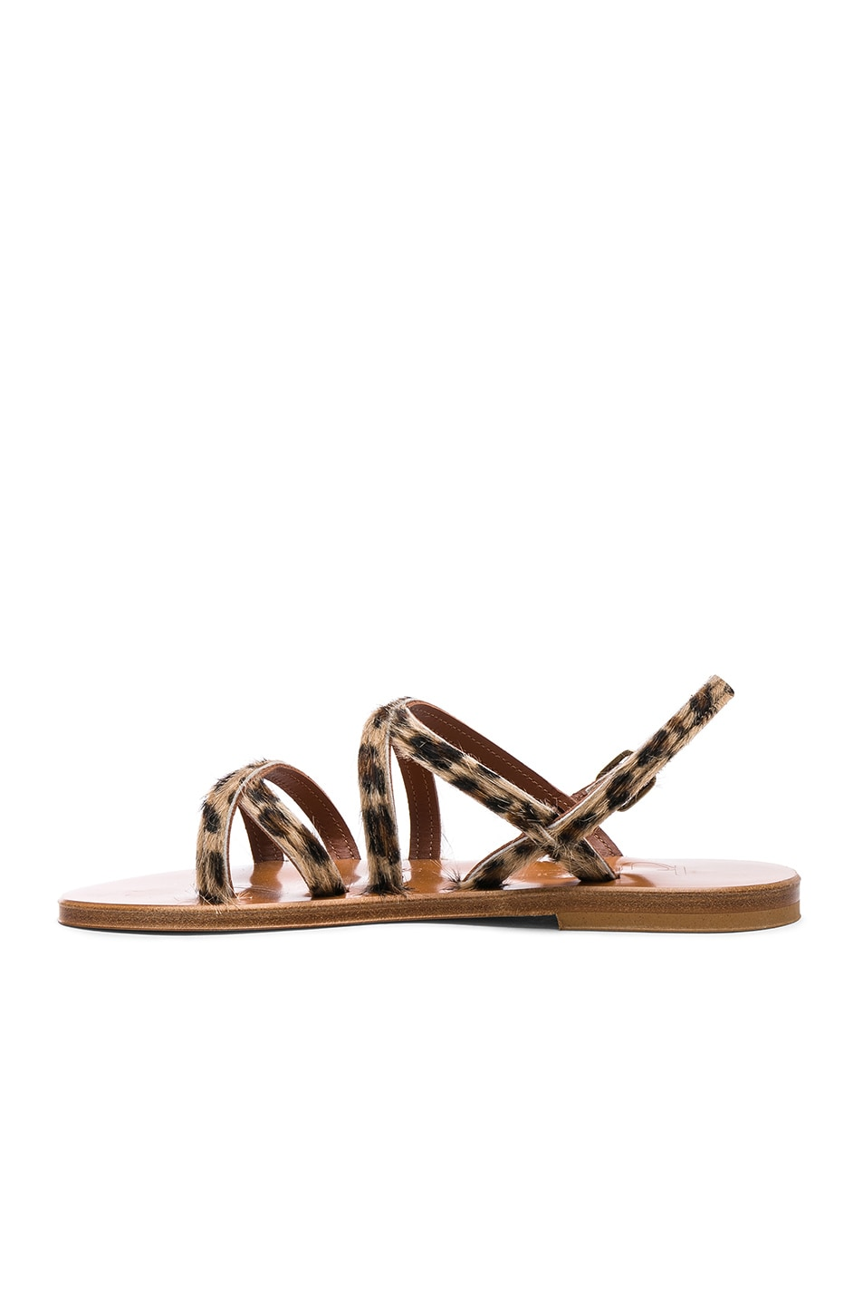 Image 5 of K Jacques Calf Hair Datura CC Sandals in Horsy Leopard
