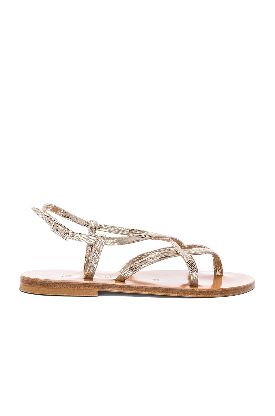 Image 1 of K Jacques Blueut Sandals in Disco Platine