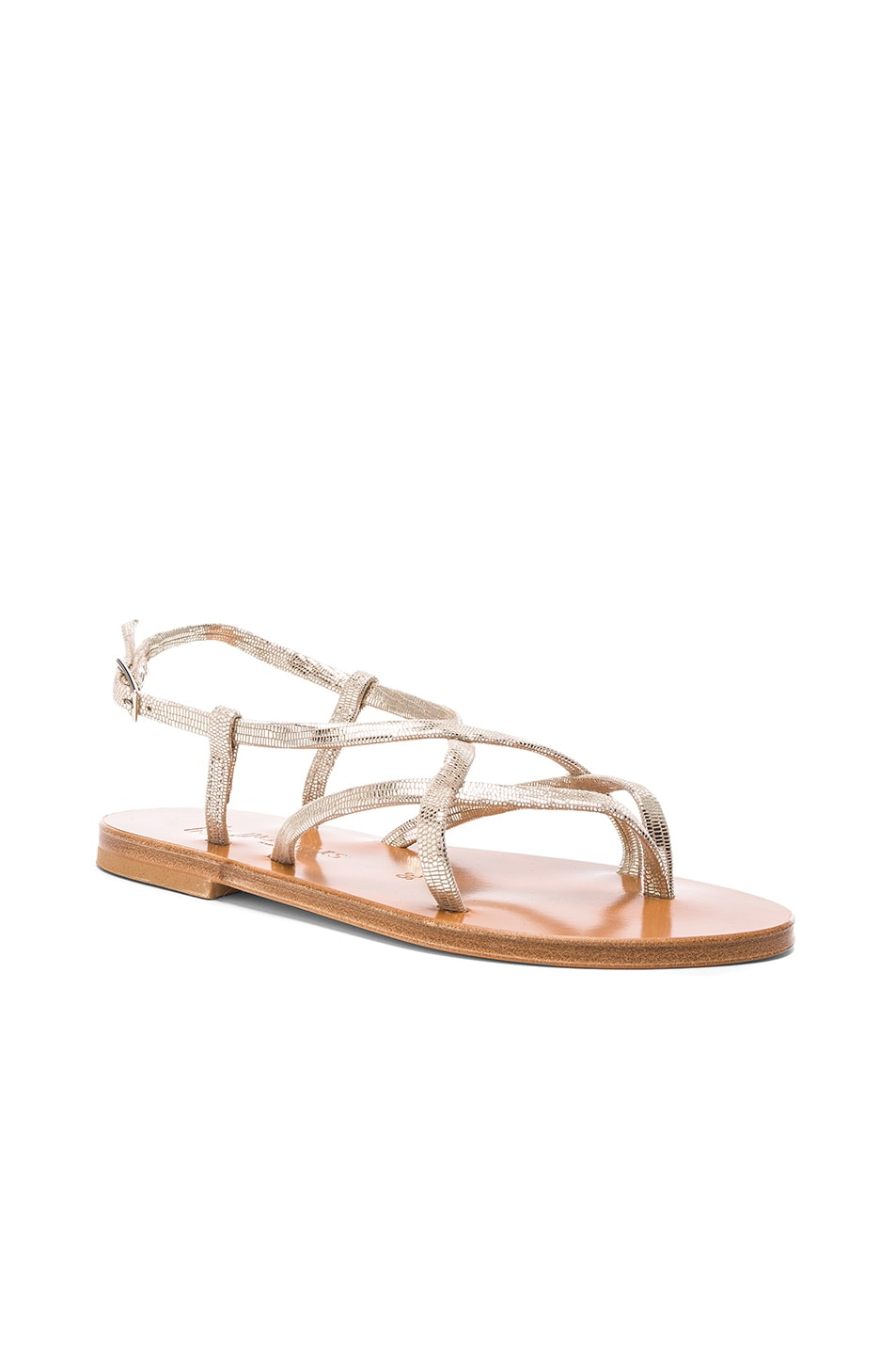 Image 2 of K Jacques Blueut Sandals in Disco Platine