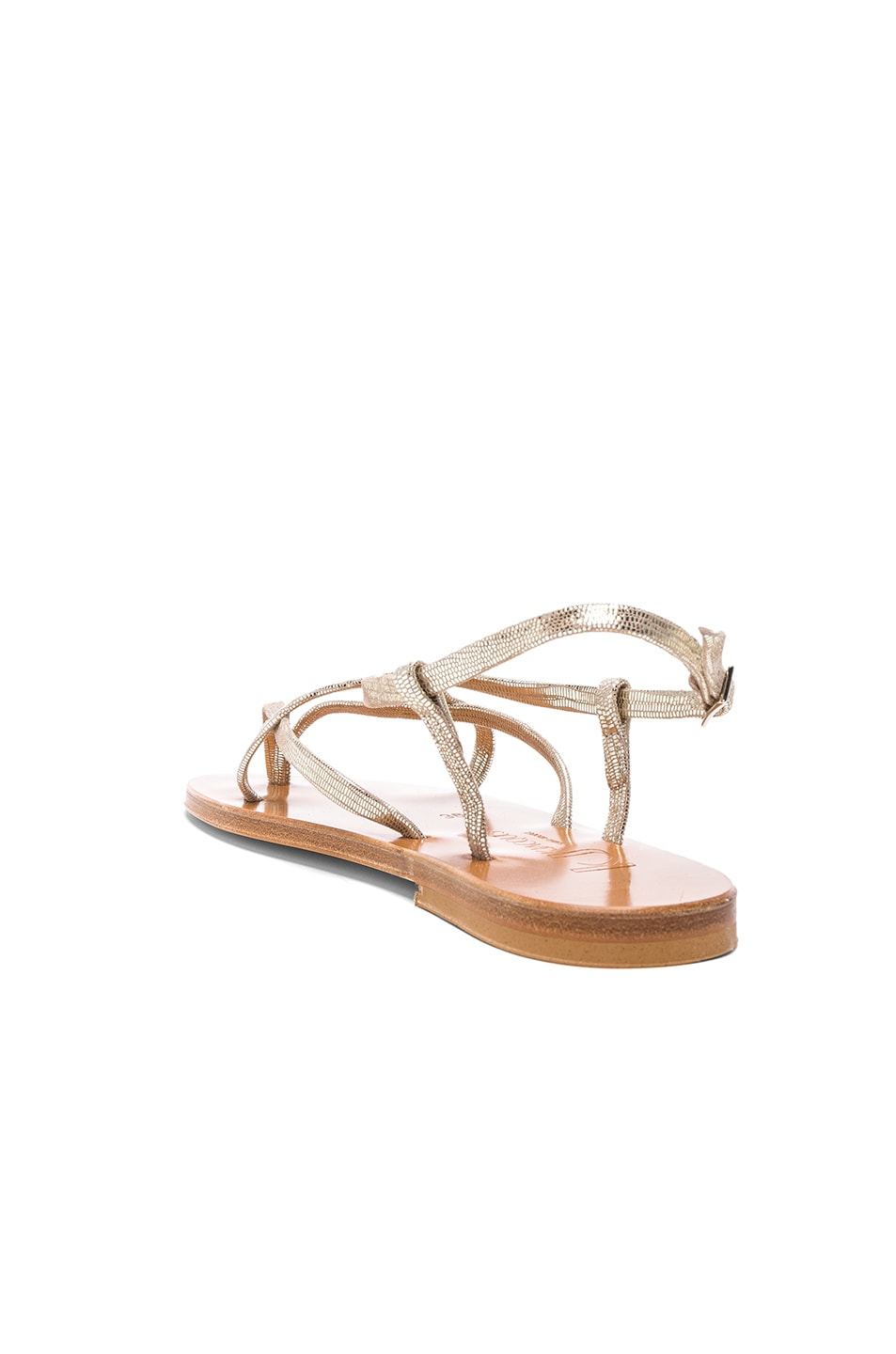 Image 3 of K Jacques Blueut Sandals in Disco Platine