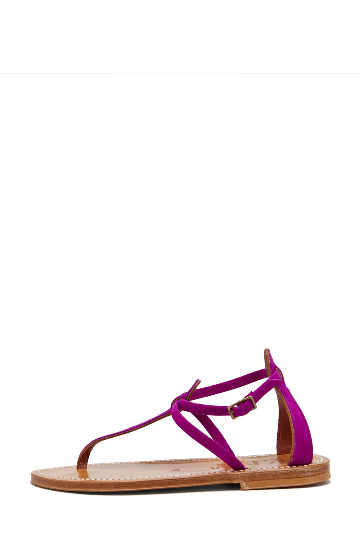 Image 1 of K. Jacques Buffon Suede Sandal in Fuchsia