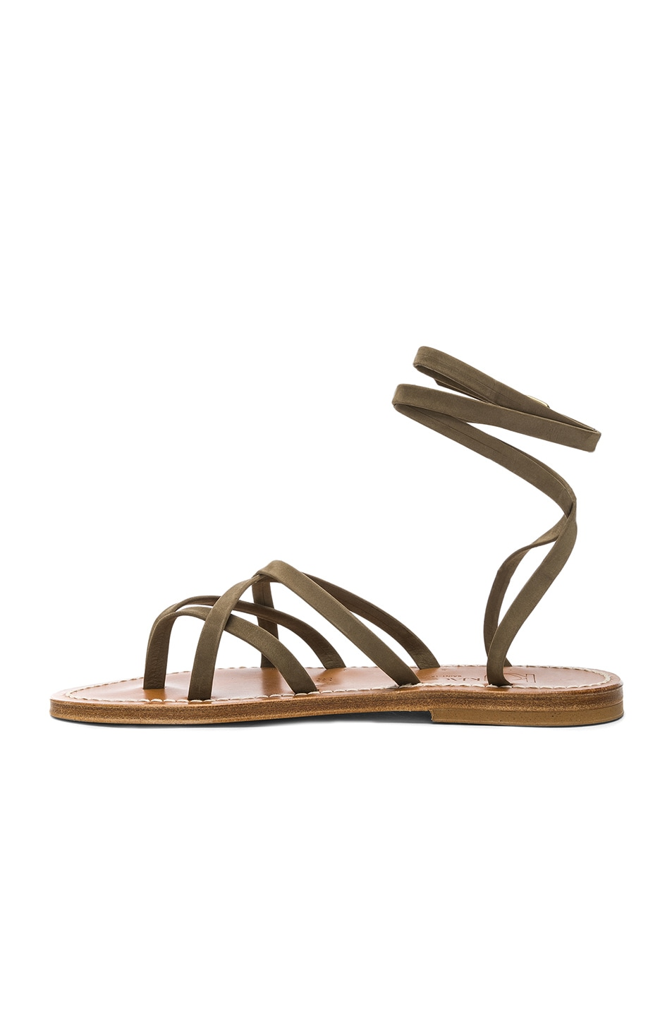 Image 5 of K Jacques Zenobie Sandal in Nubuck Kaki