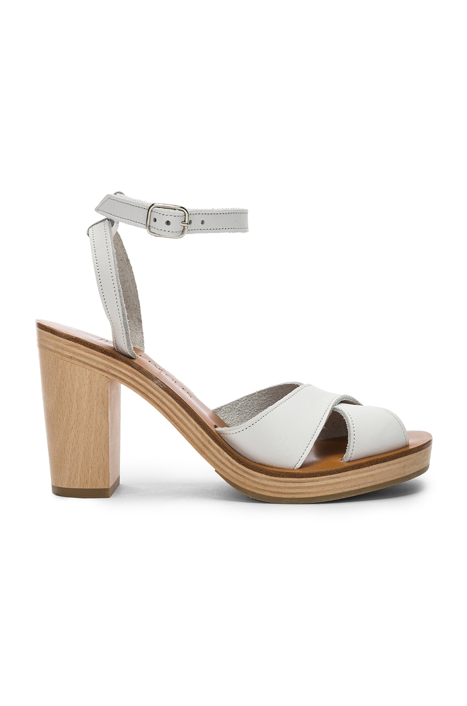 Image 1 of K Jacques Figuier Sandal in Pul Blanc