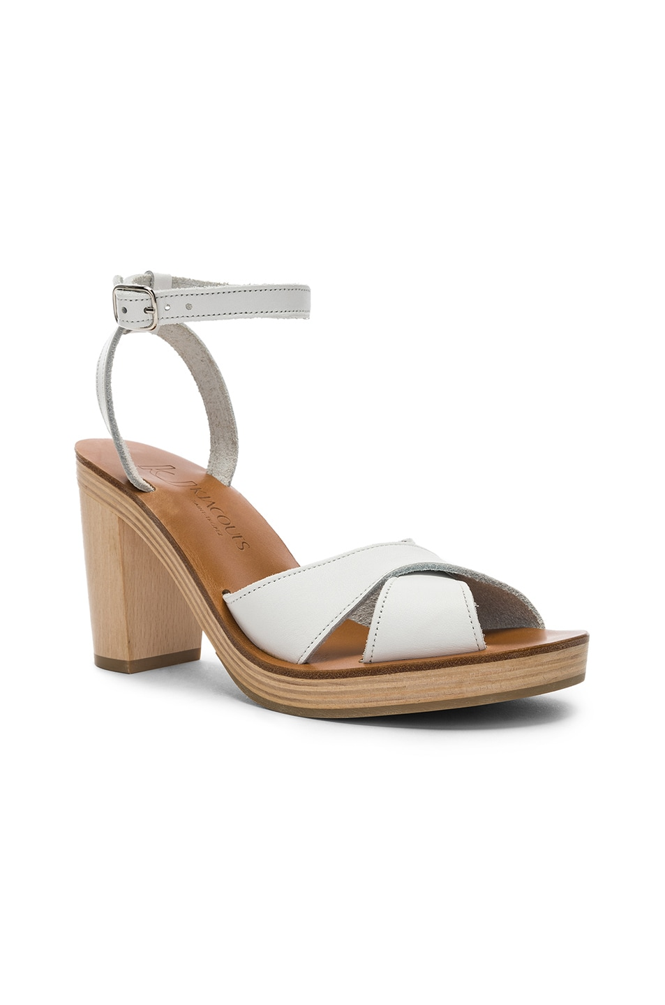 Image 2 of K Jacques Figuier Sandal in Pul Blanc