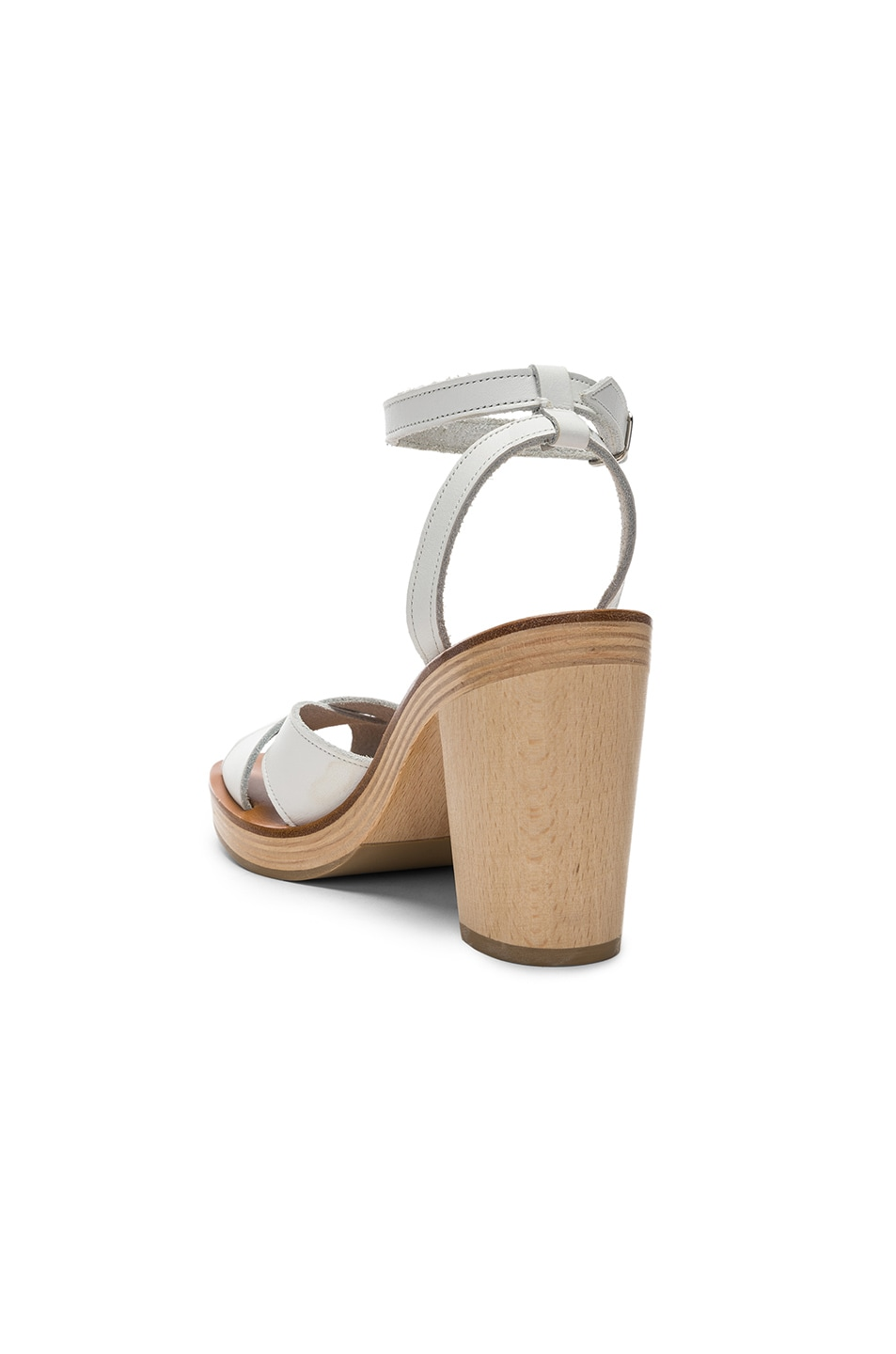 Image 3 of K Jacques Figuier Sandal in Pul Blanc