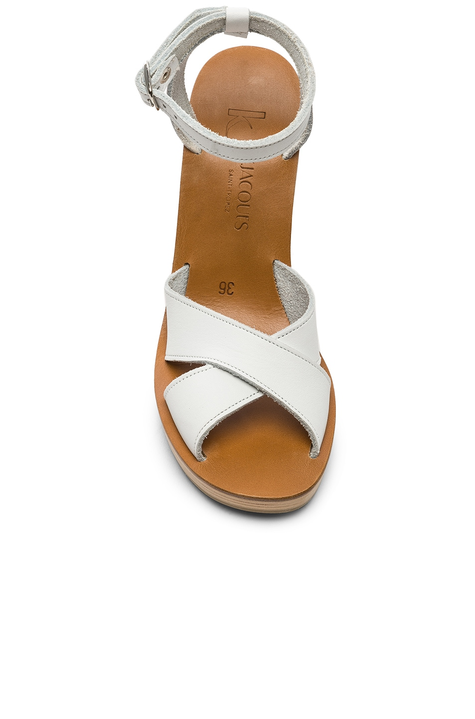 Image 4 of K Jacques Figuier Sandal in Pul Blanc