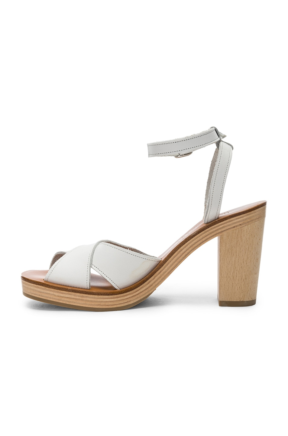 Image 5 of K Jacques Figuier Sandal in Pul Blanc