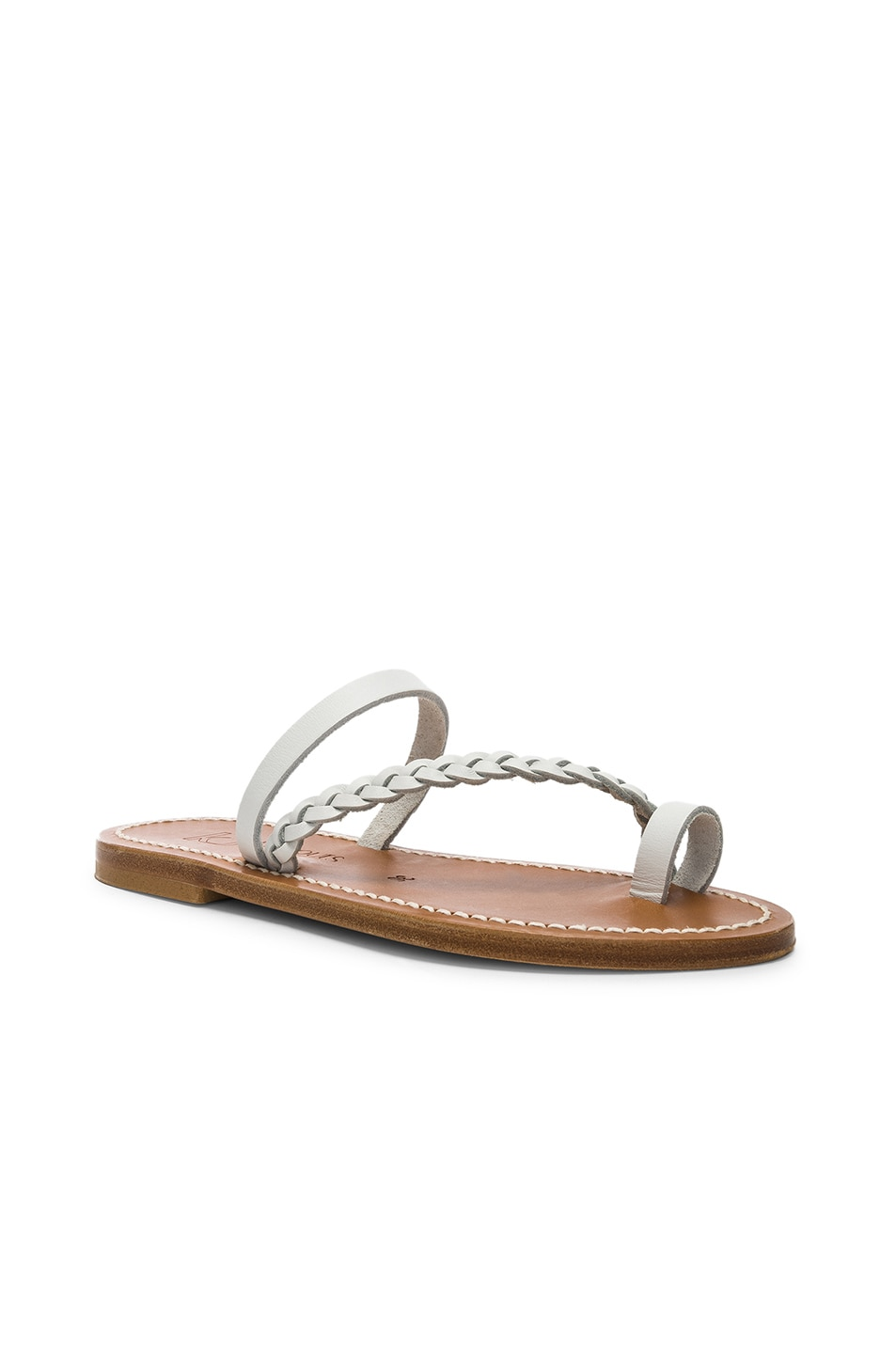 Image 2 of K Jacques Isaure Sandal in Pul Blanc