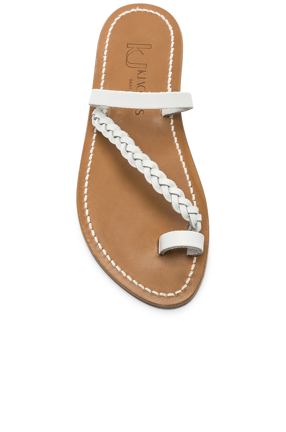 Image 4 of K Jacques Isaure Sandal in Pul Blanc