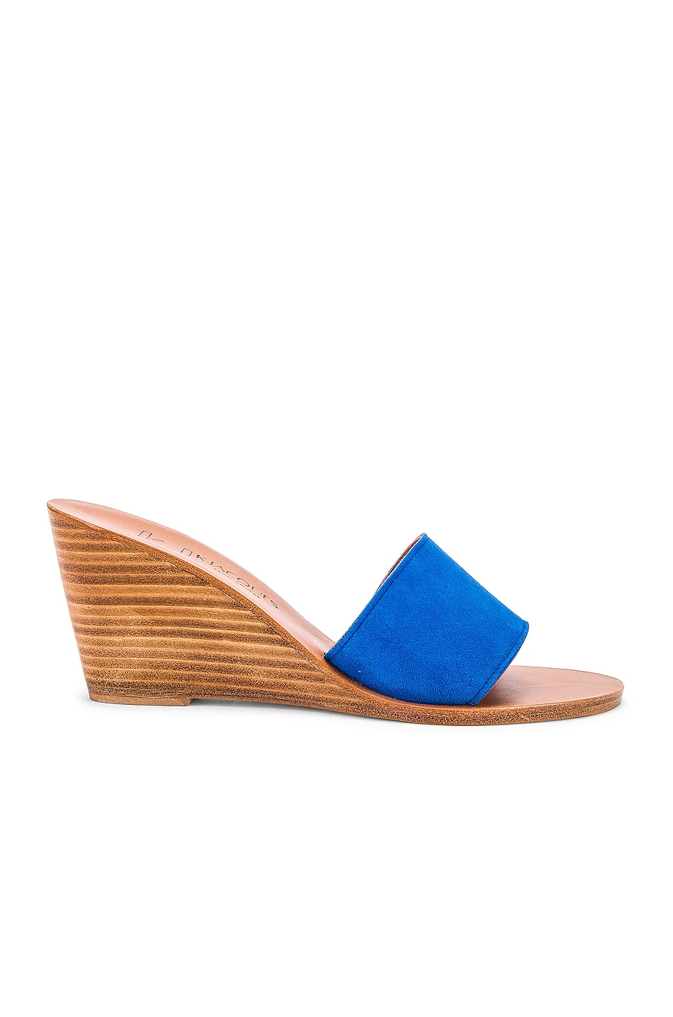 Image 1 of K Jacques Bianca Wedge in Velours Auto