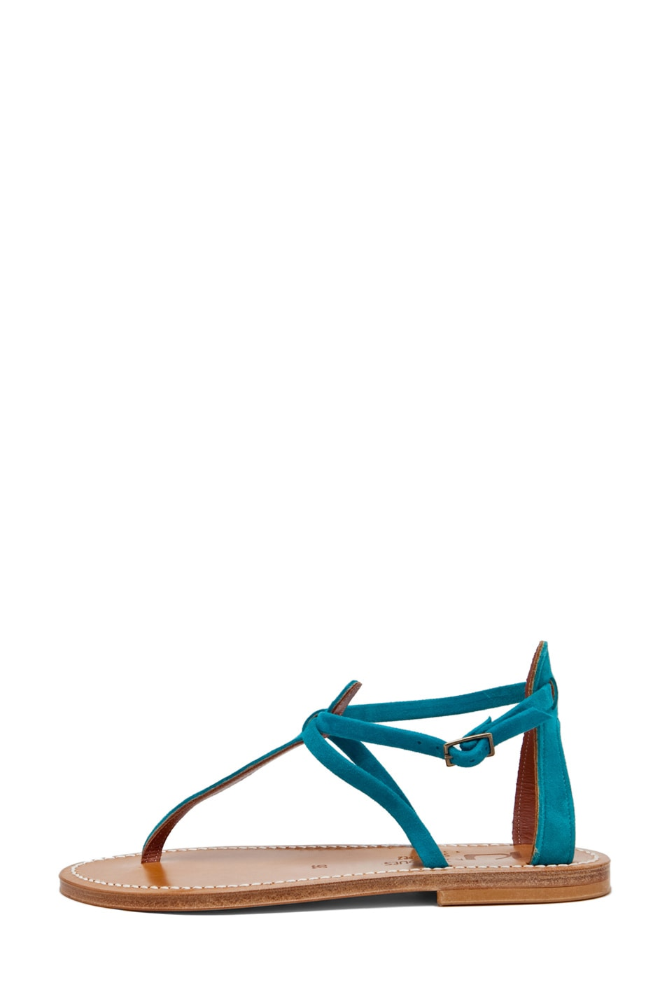 Image 1 of K. Jacques Buffon Suede Sandal in Turquoise