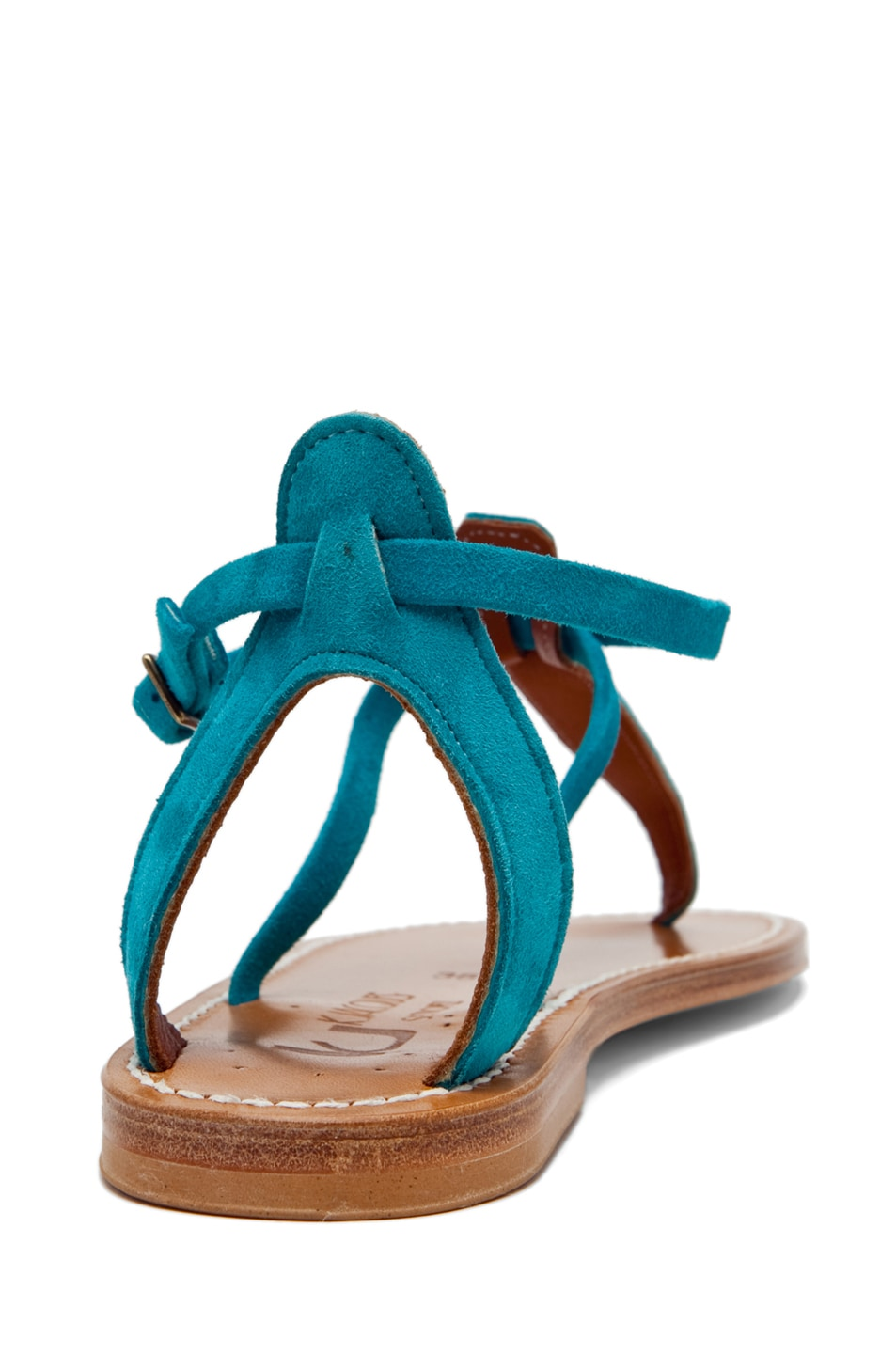 Image 3 of K. Jacques Buffon Suede Sandal in Turquoise