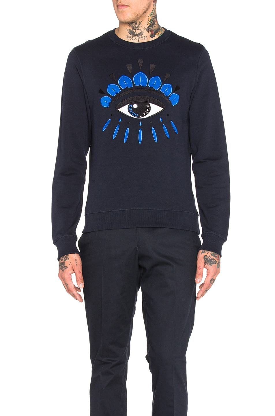 Image 1 of KENZO Classic Eye Sweatshirt in Midnight Blue
