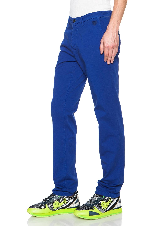 38c9ffcdb Kenzo Garment Dyed Gabardine Pants in French Blue