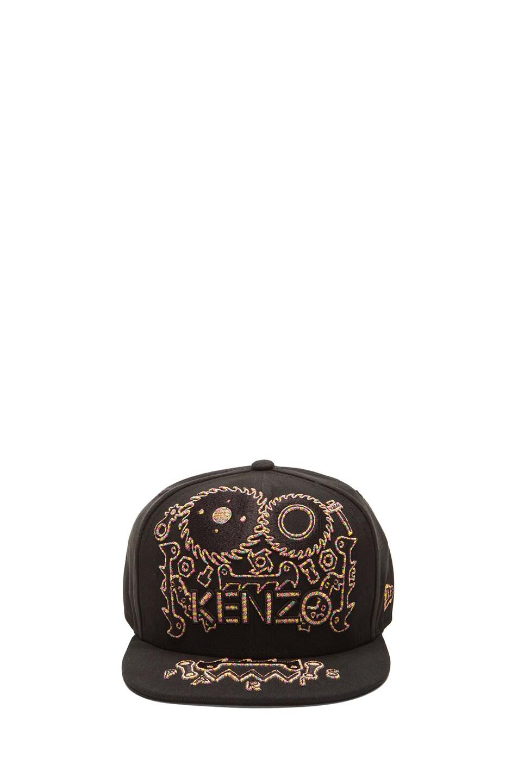 0e40900d02e Image 1 of Kenzo x New Era Monster Embroidery Cap in Black