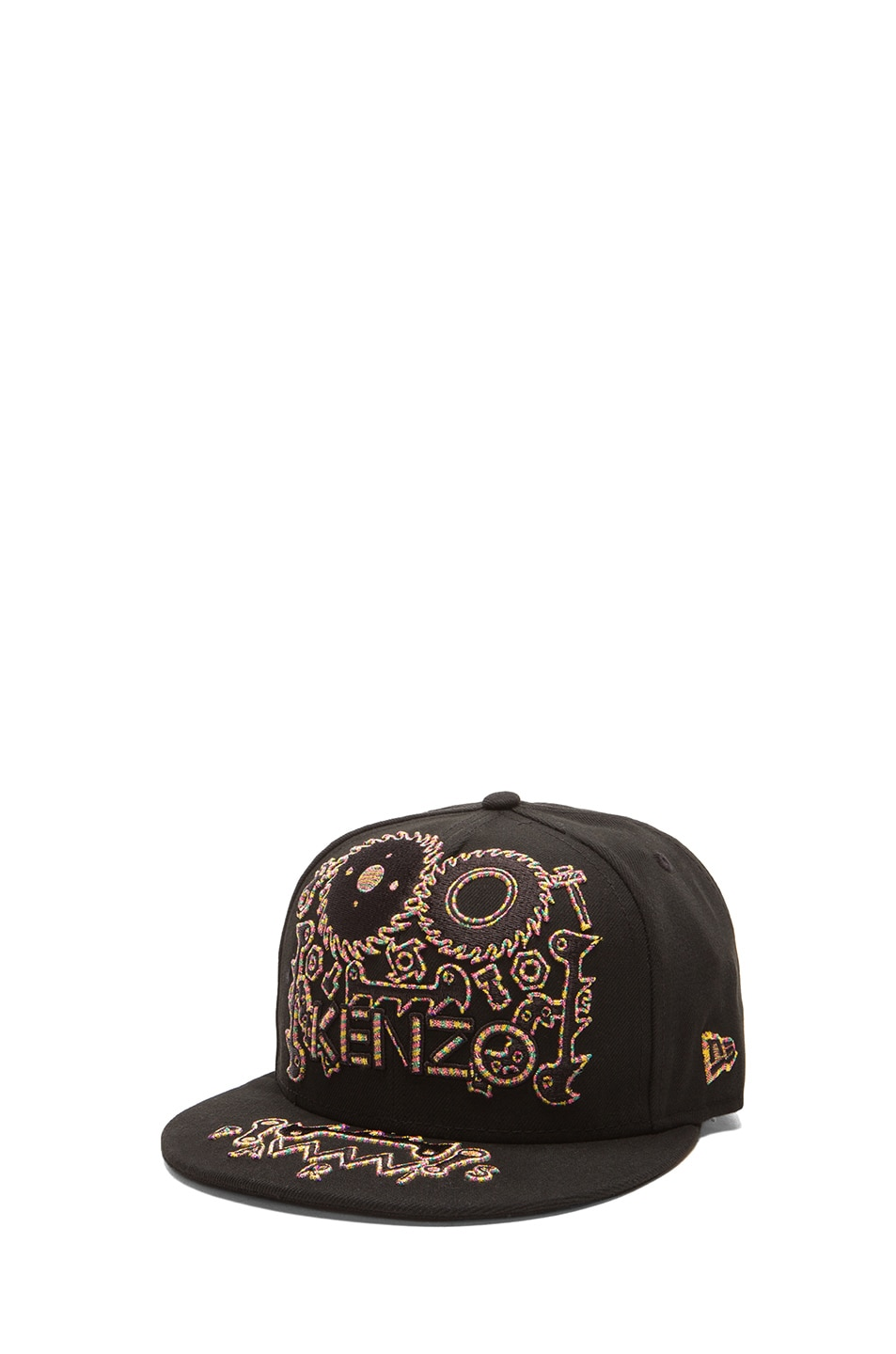 ac1b4f351c4 Image 2 of Kenzo x New Era Monster Embroidery Cap in Black