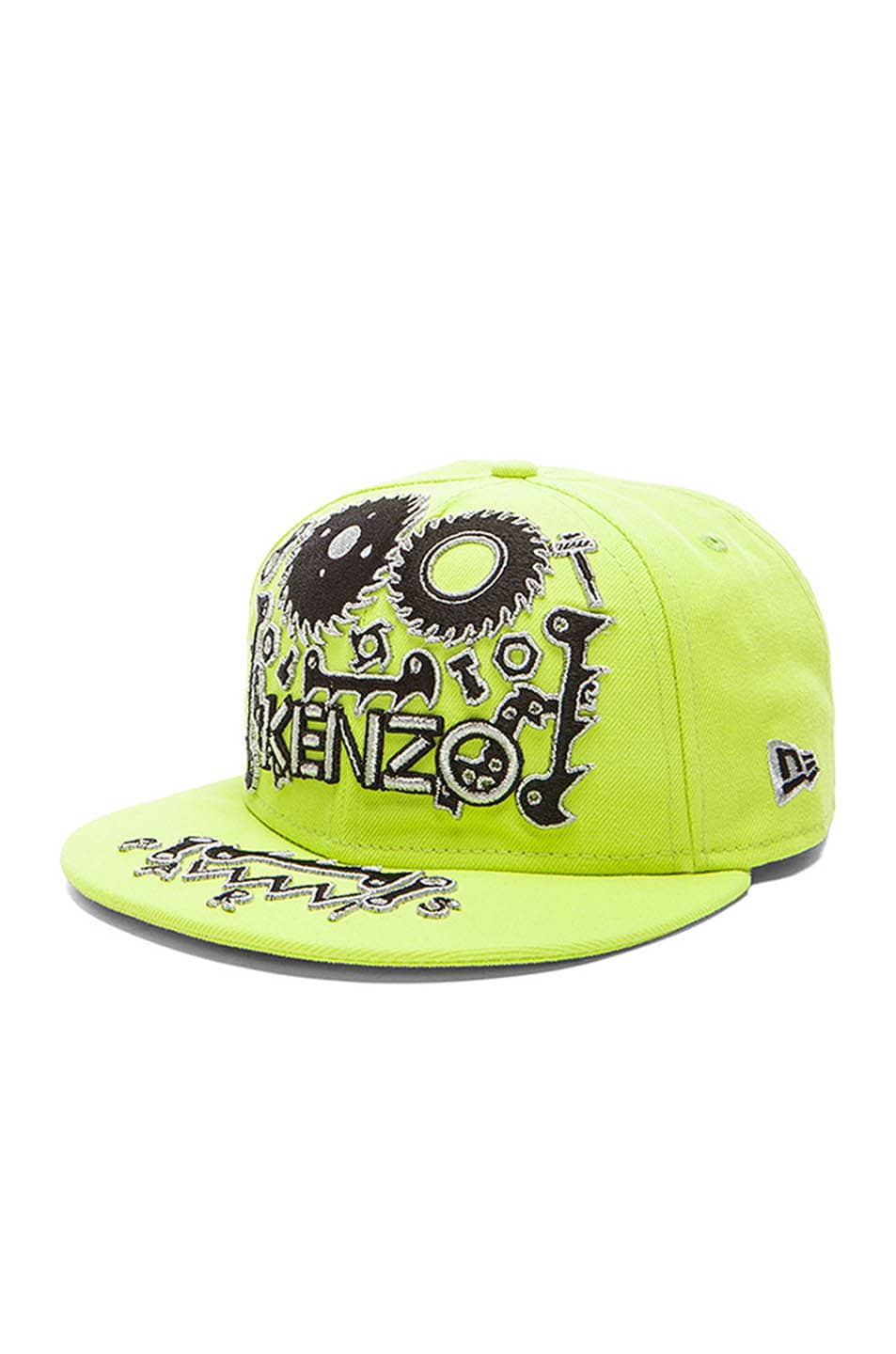 5702aa9940f35 Image 2 of Kenzo x New Era Monster Embroidery Cap in Green