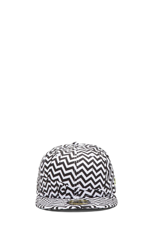 Image 1 of Kenzo x New Era Broken Floor Cap in Black & White