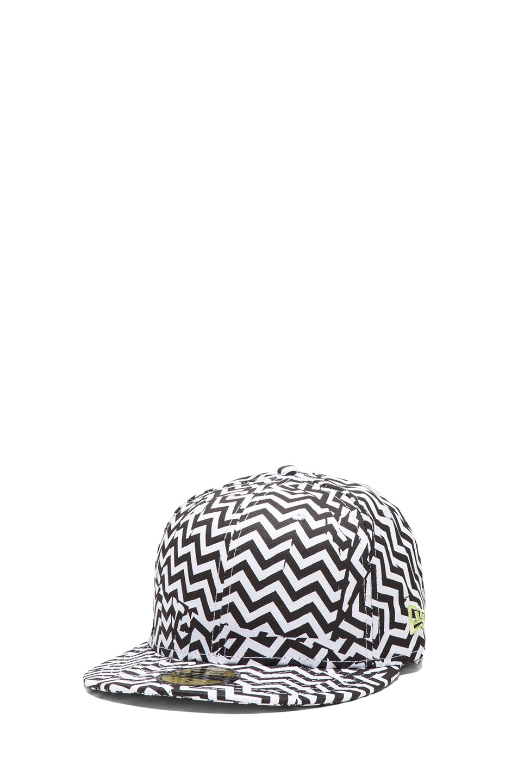 Image 2 of Kenzo x New Era Broken Floor Cap in Black & White
