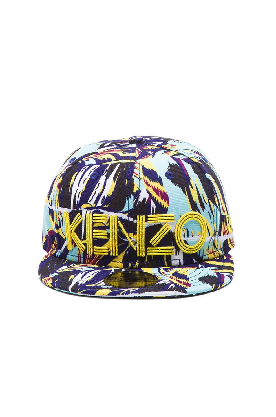 Image 1 of KENZO x New Era Torn Flowers Hat in Blue Multi