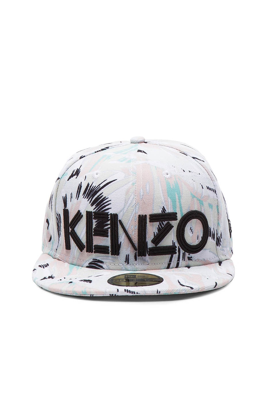 Image 1 of Kenzo x New Era Torn Flowers Hat in White Multi 5a80824b6f0