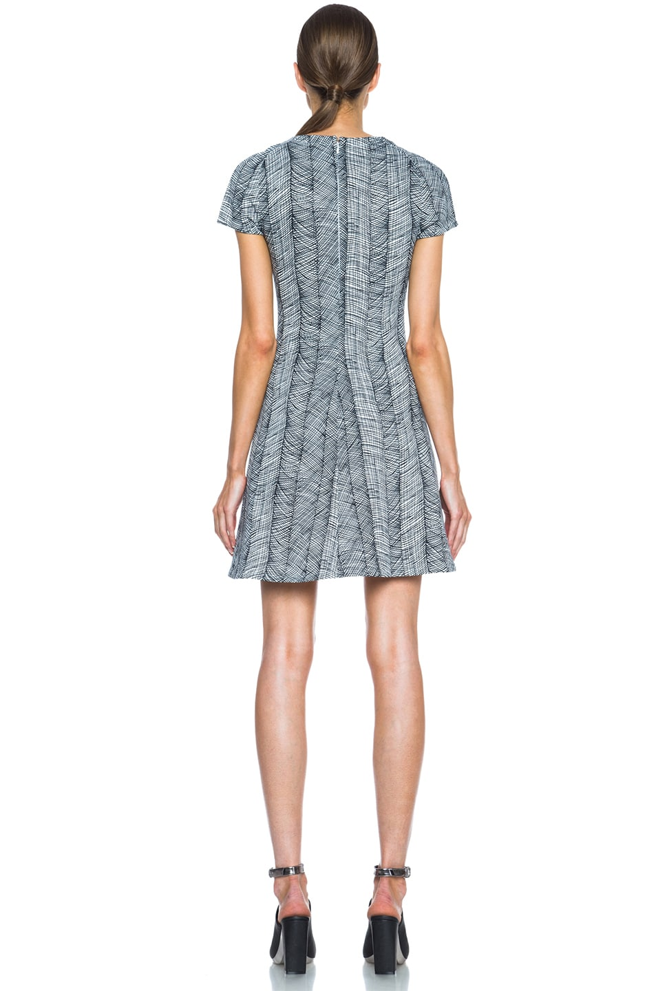 0e9a291ff0f83 Image 4 of Kenzo Graphic Curtain Knit Dress in Optic White