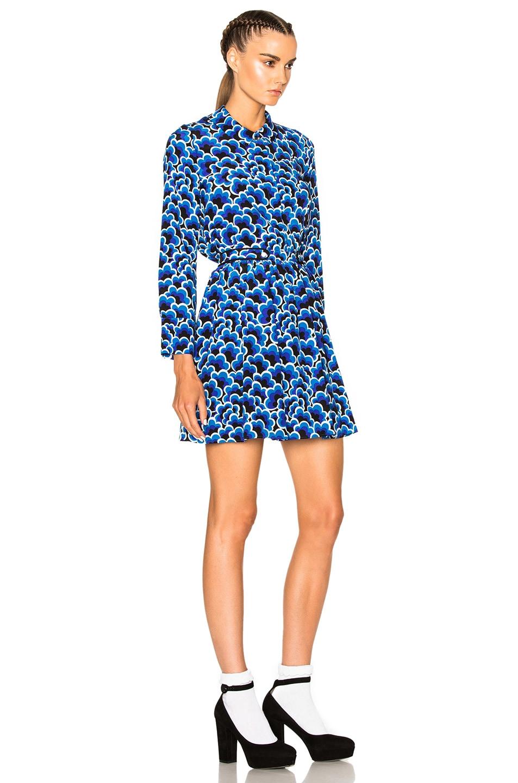 Kenzo Popcorn Dress in Deep Sea Blue | FWRD