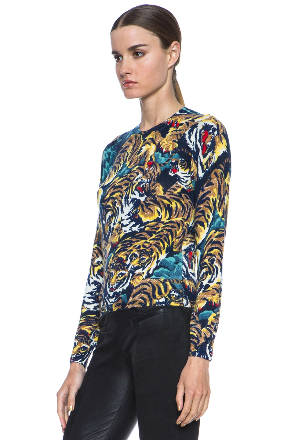 d306f312 Image 2 of Kenzo Flying Tiger Print Wool Sweater in Bleu Nuit