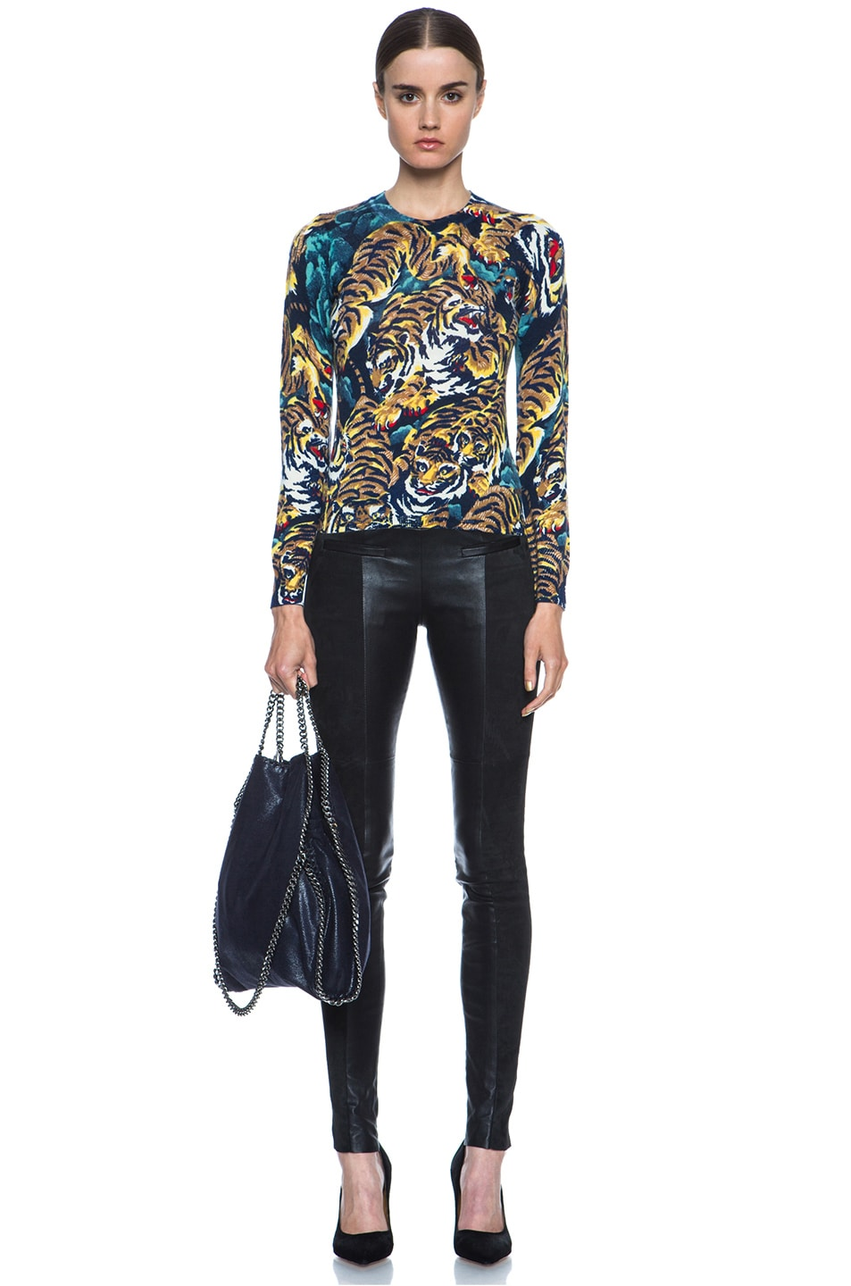 596e6a41 Image 5 of Kenzo Flying Tiger Print Wool Sweater in Bleu Nuit