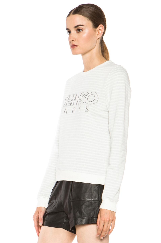 Image 2 of KENZO Kenzo Logo Sweatshirt in White