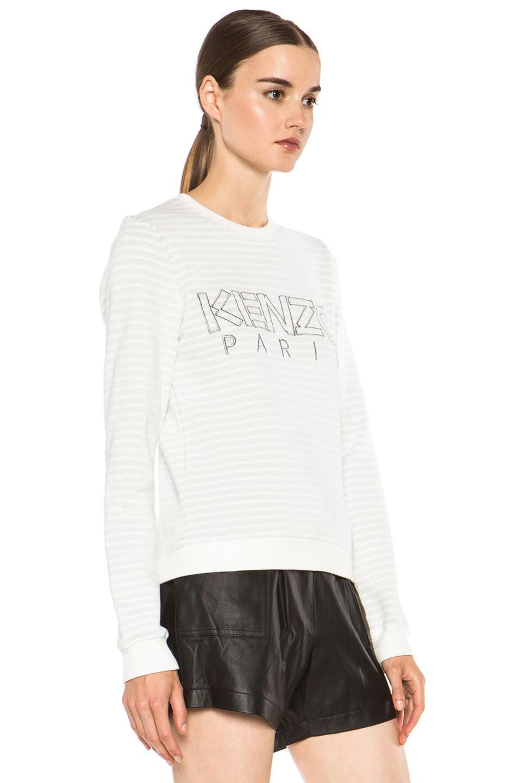 Image 3 of KENZO Kenzo Logo Sweatshirt in White