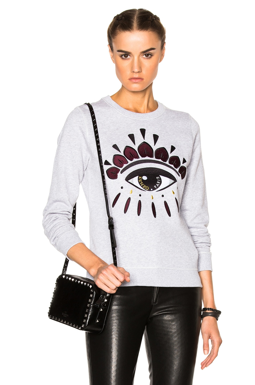 kenzo eye sweater grey sale   OFF47% Discounts 8869da8cd