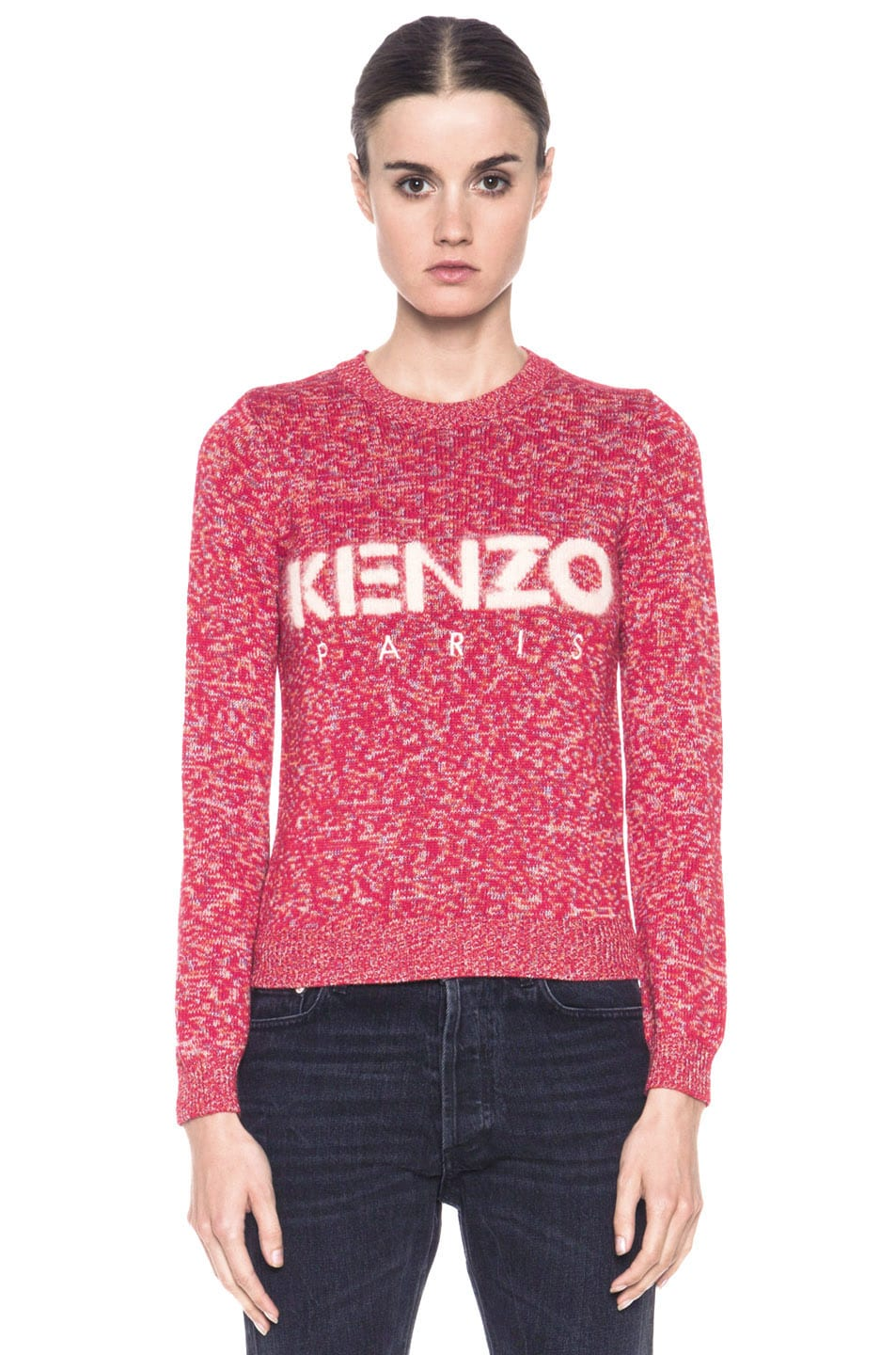 Image 1 of KENZO Logo Sweater in Red