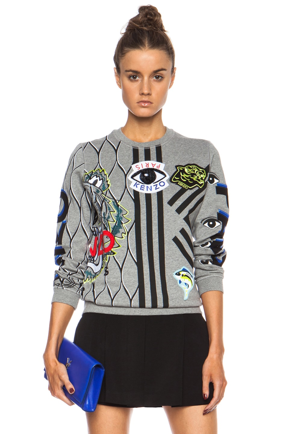 Image 1 of KENZO Graphic Sweatshirt in Dark Grey