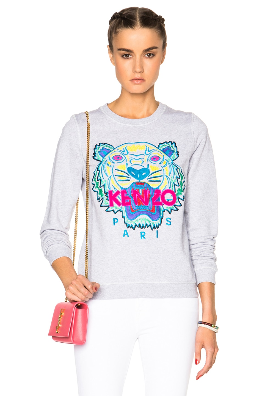 0cbc074e2e Image 1 of Kenzo Classic Tiger Sweatshirt in Light Grey
