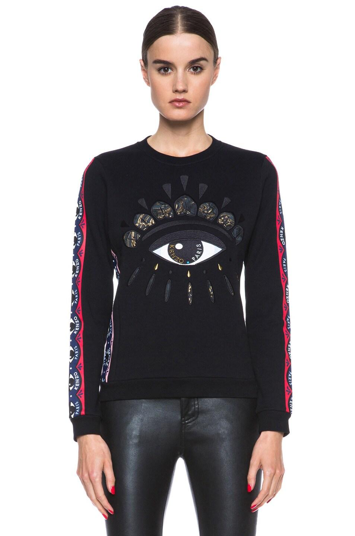 Image 1 of KENZO Cotton Eye Sweatshirt in Black